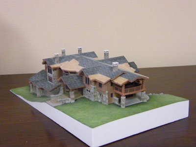 3D Architectural Model Estate Multi View